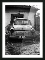 Abandoned ZAZ 965  USSRs replica of FIAT 600 Picture Frame print
