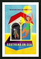 Vintage Travel - Southend on Sea Picture Frame print