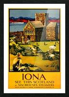 Vintage Travel - Iona Scotland Picture Frame print