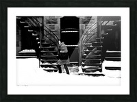 Trudging Through the Snow Picture Frame print