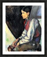Boy with Red Vest by Cezanne Picture Frame print