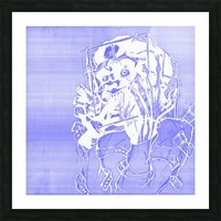 Jacle blue print Picture Frame print