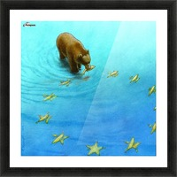 gold fishes Picture Frame print