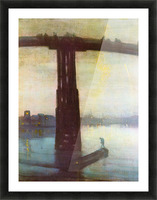 The old Battersea Bridge by James Abbot McNeill Whistler Picture Frame print