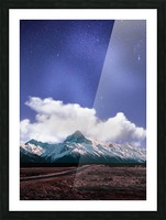 Blue Sky Over The Mountain Picture Frame print