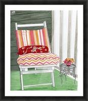 Beach Chair Sans Beach Picture Frame print