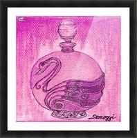 Bottled Fuchsia Swan Picture Frame print
