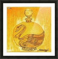 Bottled Gold Swan Picture Frame print