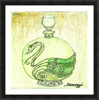 Bottled Lemon Swan Picture Frame print
