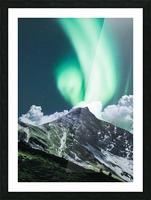 Aurora Borealis Over The Mountain Picture Frame print