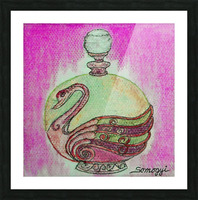 Bottled Purple Swan Picture Frame print