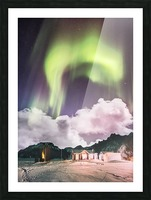 Aurora In The Winter Picture Frame print