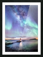 Aurora And Milky Way  Picture Frame print