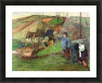 Breton Shepherd by Gauguin Picture Frame print