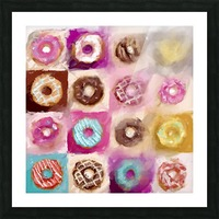 Donut Series No 1 Picture Frame print