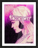 1920's Bride -- in Purple Picture Frame print
