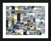 Gray Geometry Watercolor Geometrics Decorative Blocks XIV Picture Frame print