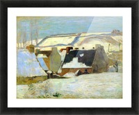 Breton Village in Snow by Gauguin Picture Frame print
