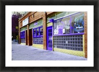 Atlanta Street Scene -- Blue & Brown Picture Frame print