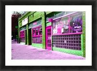 Atlanta Street Scene -- Fuchsia & Lime Picture Frame print