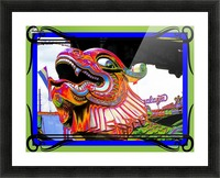 Carnival Creature in Bright Colors Picture Frame print