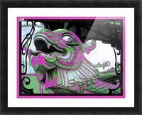 Carnival Creature in Purple & Green Picture Frame print