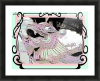 Carnival Creature in Pastels Picture Frame print