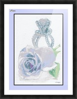 Blue Bud in Frame Picture Frame print