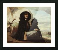 Autoportrait dit Courbet au chien noir Impression et Cadre photo