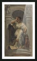 Esquisse pour la coupole du pavillon Denon au Louvre La pensee ou l architecture Picture Frame print