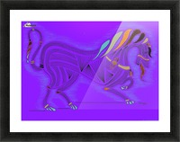 RARIN' TO GO--Bright on Blue Picture Frame print