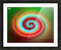 Swirl Picture Frame print