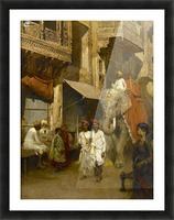Promenade on an Indian Street Picture Frame print