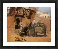 Elephants at the Palace of Jodhpore Picture Frame print