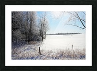 Frosty Winter Countryside I Picture Frame print