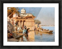 Along the Ghats, Mathura Picture Frame print