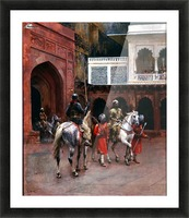 Indian Prince, Palace of Agra Picture Frame print