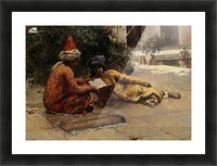 Two Arabs Reading Picture Frame print