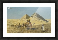 Caravan and pyramids Picture Frame print
