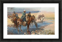 Horses at the Ford-Persia Picture Frame print