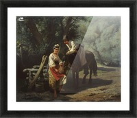 By the Well Picture Frame print
