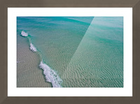 Clear Beach  Picture Frame print
