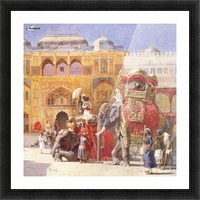 Arrival of Prince Humbert, the palace of Amber Picture Frame print
