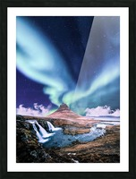 Aurora Polaris And The River Picture Frame print