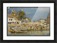 Indian bath Picture Frame print