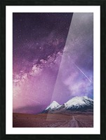 Milky Way Over The Volcano Picture Frame print