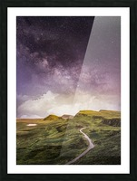 Purple Milky Way And The Sunshine Picture Frame print