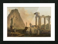 Ruines romaines Picture Frame print