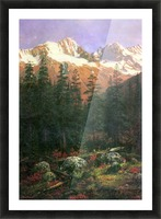 Canadian Rockies by Bierstadt Picture Frame print
