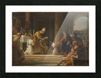 Esquisse pour l eglise Notre Dame de Lorette Consecration de la Vierge Picture Frame print